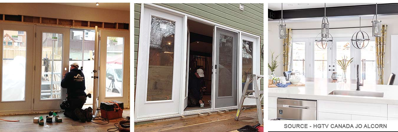THwindowsdoors Kitchen exterior doors installation